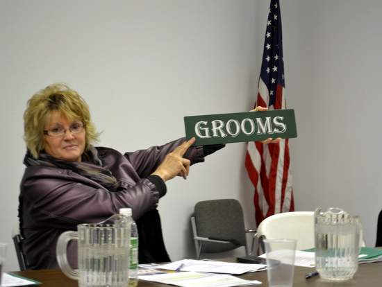 Trustee Choat Displays Ag Department Sign